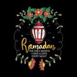 Ramadan den enda m?naden har jag ett datum varje natt royaltyfri illustrationer