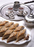 Ramadan dessert baklava and turkish Royalty Free Stock Image