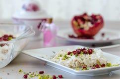 Ramadan Dessert Gullac tradicional fotos de stock