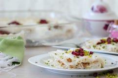 Ramadan Dessert Gullac tradicional fotografia de stock royalty free