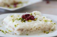 Ramadan Dessert Gullac tradicional foto de stock