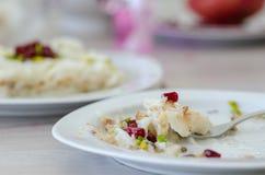 Ramadan Dessert Gullac tradicional imagens de stock