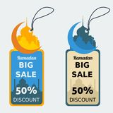 Ramadan Discount Tag. Editable Ramadan Discount Tags Vector Mock up Stock Images