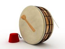 Ramadan drum. 3d rendered isolated vector illustration