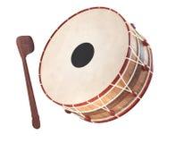 Ramadan drum 3D Rendered. Muslim concept,music instrument,ramadan concept,illustration,ramazan equipment royalty free stock photo