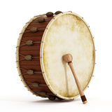 Ramadan drum and drumstick. 3D illustration Royalty Free Stock Image