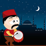 Ramadan drummer. Vector illustration of a ramadan drummer