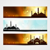 Ramadan and eid headers Royalty Free Stock Photos