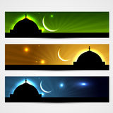 Ramadan and eid headers Royalty Free Stock Photography