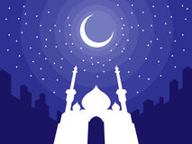 Ramadan & Eid Mubarak Greeting 3 Stock Photography