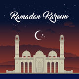 Ramadan, Eid Mubarak, greeting card vector illustration.  stock illustration