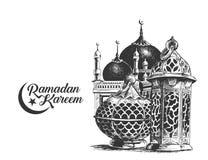 Ramadan för bokstäver för Eid Mubarak berömkalligrafi stilfull stock illustrationer