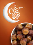 Ramadan Fasting Dates with Crescent Royalty Free Stock Image