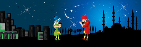 Ramadan fasting, night entertainment. Stock Images