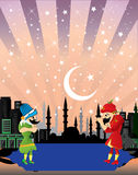 Ramadan fasting, night entertainment. Royalty Free Stock Photography