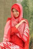 ramadan flickamuslim arkivfoto