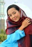 ramadan flickamuslim arkivbilder