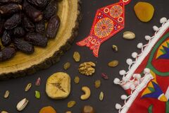 Ramadan Food Background Top View