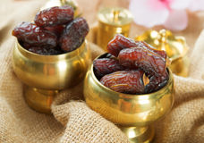 Ramadan food dates fruit. Royalty Free Stock Photo