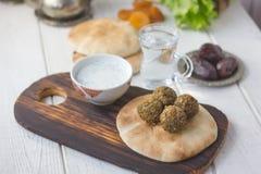 Ramadan food. Falafel balls for iftar time on Ramadan month. Stock Photo