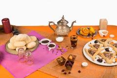 Ramadan food still life. Still life displaying an assortment of Ramadan foods Stock Images