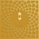Ramadan gouden vector als achtergrond, Ramadan kareem Stock Afbeelding