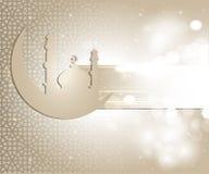 Ramadan greeting card. Greeting card for ramadan and eid al fitr stock illustration