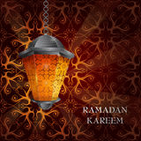 Ramadan greeting card design Stock Images