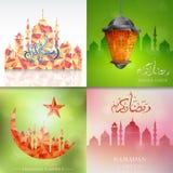 Ramadan greeting card designs Royalty Free Stock Photos