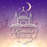 Ramadan Greeting Card for holy month Stock Photos
