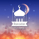 Ramadan Greeting Card for holy month Royalty Free Stock Images