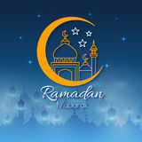 Ramadan Greeting Card for holy month Royalty Free Stock Photography