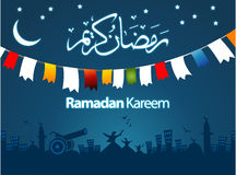 Ramadan Greeting Card Illustration Royalty Free Stock Photography
