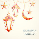 Ramadan greeting card template Royalty Free Stock Photography