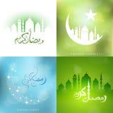 Ramadan greeting cards set Stock Photo
