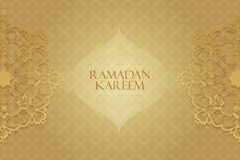 Ramadan greetings background. Ramadan Kareem means Ramadan the Generous Month Royalty Free Stock Photo