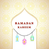 Ramadan greetings background. Ramadan Kareem means Ramadan the Generous Month Royalty Free Stock Photos