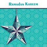Ramadan-Hintergrund mit dekorativem Stern Lizenzfreies Stockbild