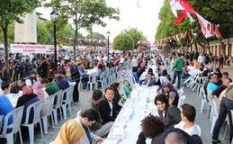 Ramadan i Istanbul Royaltyfria Bilder
