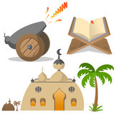 Ramadan icons Stock Images