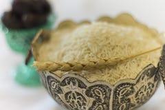 Ramadan Ifatr-onderbreking snel, rijstmaaltijd Stock Afbeeldingen