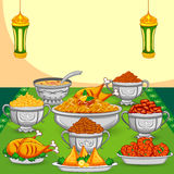 Ramadan Iftar food. For Eid celebration in vector