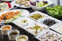 Ramadan Iftar lub Suhoor bufet obraz stock