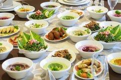 Ramadan Iftar lub Suhoor bufet zdjęcia royalty free