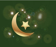 Ramadan. Islamic background in green and gold Royalty Free Stock Images