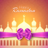 Ramadan Islamic Greeting Background heureux Image stock