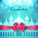Ramadan Islamic Greeting Background heureux Photo stock