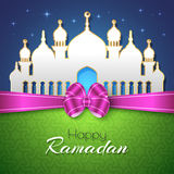 Ramadan Islamic Greeting Background heureux Photos stock