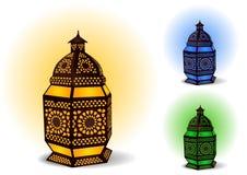 ramadan islamisk lampa för berömeid royaltyfri illustrationer
