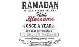Ramadan ist wie eine seltene Blume, die Blüten einmal jährlich und gerade während Sie anfangen, seinen Duft zu riechen es für ein stock abbildung